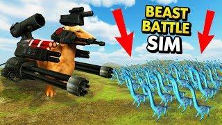 MASSIVE ARMED DOG IN BEAST BATTLE SIMULATOR (Beast Battle Simulator Funny Gameplay)