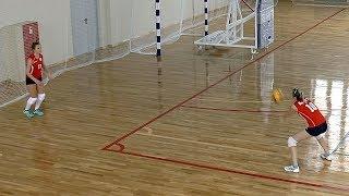 Волейбол обучение. Разминка с мячом