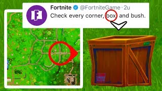 I FOUND the SEASON 4 SECRET MESSAGE! (Fortnite: Battle Royale) [Check every corner, box, and bush]