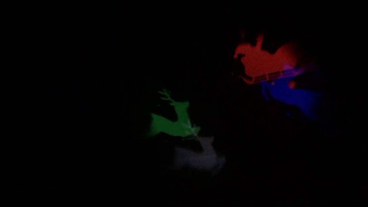 cf726e3d8c LED LightShow Projection Reindeer Santa Sleigh Multicolor Christmas ...