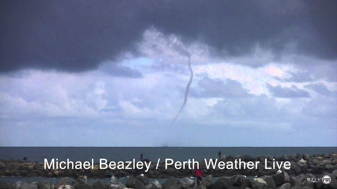 Rare Waterspout Mandurah Western Australia Youtube