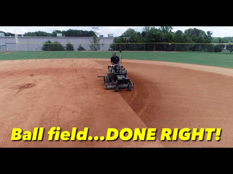 Ball Field Done Right! Laser Level Infield