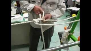 やってみよう!ロープワーク~応用・ロープを張る(固定)