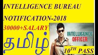TAMIL-Intelligence Bureau (IB) Recruitment 2018 - 1054 Posts | Exam Pattern, Syllabus, Cut Off