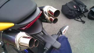 Street triple Yoshimura exhaust note ストリートトリプル ヨシムラマフラーの音