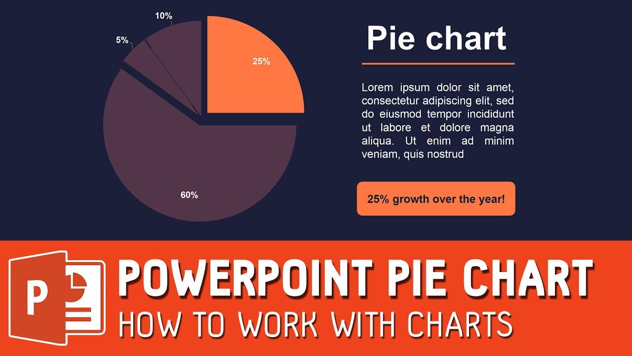 Powerpoint Pie Chart How To Work With Charts Youtube