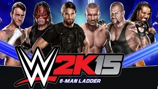 WWE 2K15:  Ladder Match [Money in the Bank] - Xbox One Gameplay, Commentary