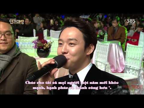 "[Vietsub][31.12.2014] Full Park Yoochun SBS Drama Awards 2014 -  Top 10 stars"" +Top Male Excellent"