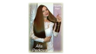 Super glossy hair. Alla Perkova