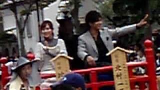 会津祭りにて.
