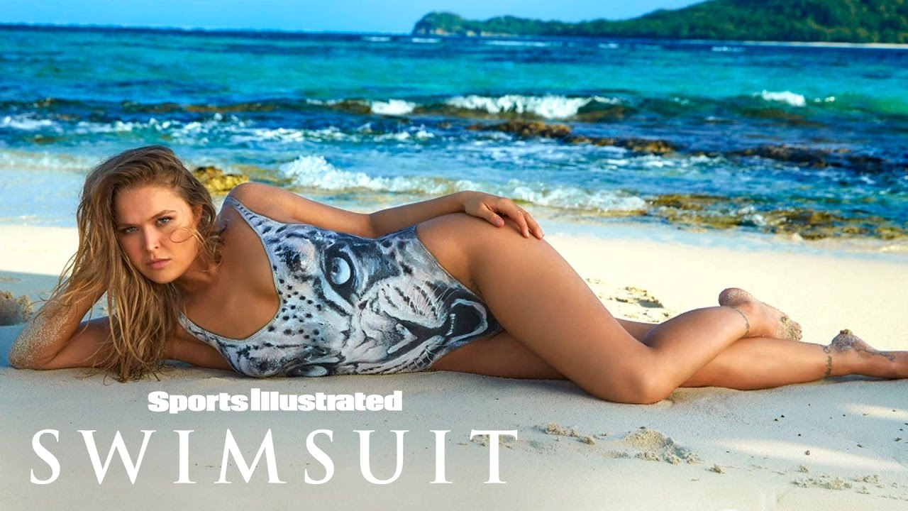ronda rousey undresses for body paint shoot | outtakes | sports