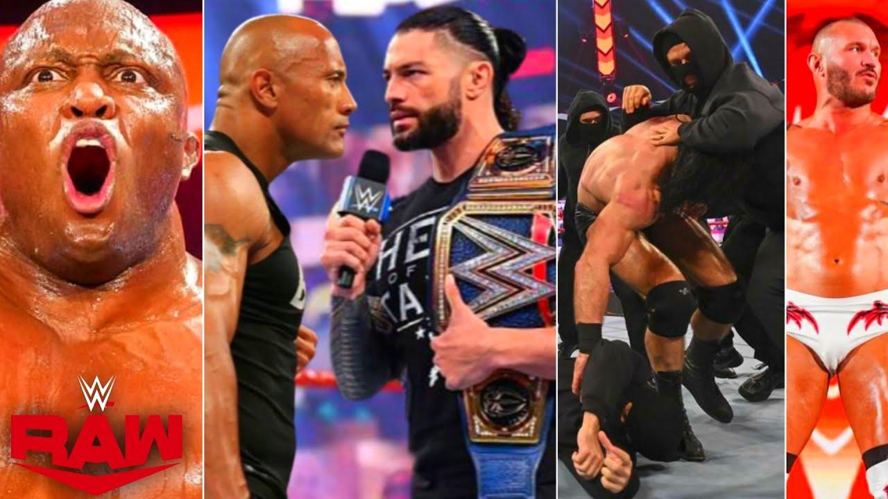 WWE Monday Night Raw, 19th April 2021 Highlights, Roman Reigns Calls Rock, Drew Attacks T-Bar & Mace