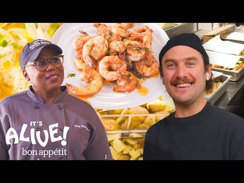 Brad Volunteers at a Food Bank | It's Alive | Bon Appétit