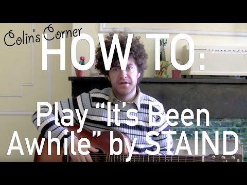 How To Play Its Been Awhile By Staind On Guitar Tutorial Youtube