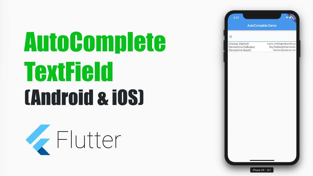 Flutter Tutorials – AutoComplete TextField – MOBILE PROGRAMMING