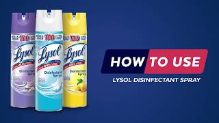 Lysol Disinfectant Spray How To Video