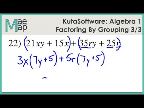 KutaSoftware: Algebra 1- Factoring By Grouping Part 3