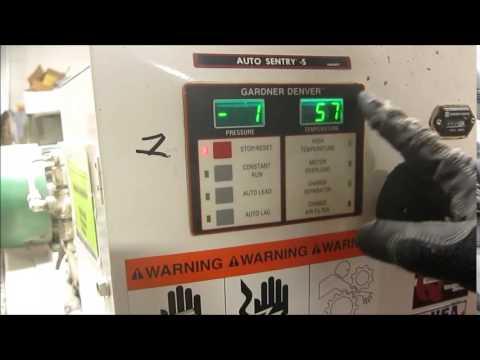 gardner denver electra screw air compressor