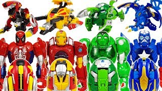 Thanos, Venom vs Avengers & Hello Carbot Dinosaur eggs MosKung, TriKung, PteraKung, TyraKung