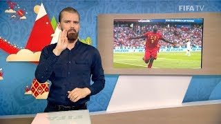 fifa wc 2018 - bel vs pan  for deaf and hard of hearing - international sign