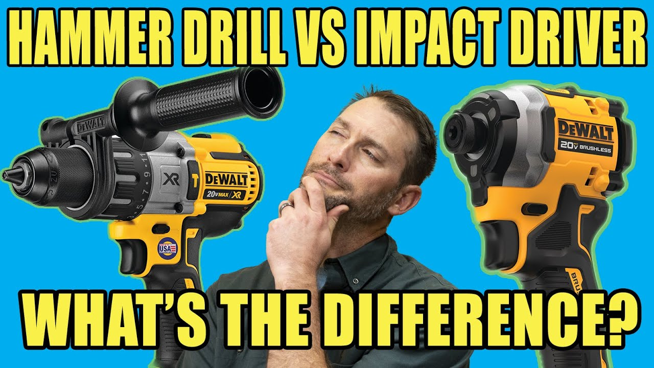 Difference Between a Hammer Drill vs Impact Driver | Which One Drills Faster in Concrete?