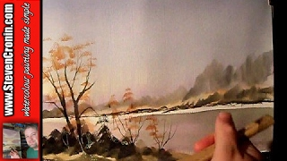 """Misty River"" Part 2 Watercolour Painting Demonstration"