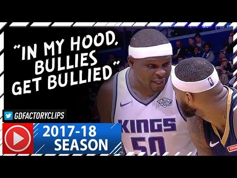 Zach Randolph vs DeMarcus Cousins BIG Duel Highlights (2017.12.08) Kings vs Pelicans - CRAZY BEEF!