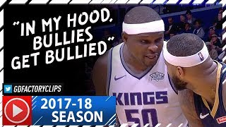 zach randolph vs demarcus cousins big duel highlights 2017 12 08 kings vs pelicans crazy beef