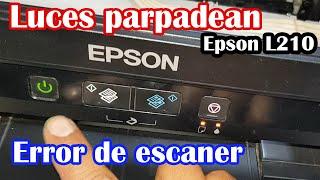 Luces parpadean Epson L210 - E…