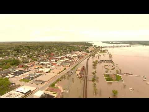 Fort Madison, IA 2019 Flooding Flyover