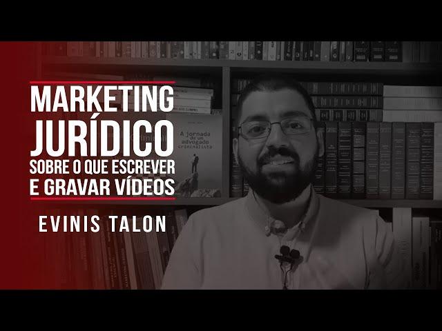 Marketing jurídico: sobre o que escrever e gravar vídeos?