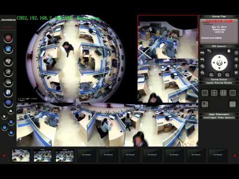360° Fisheye Panoramic IP Camera Software Demo