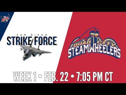 Week 1   San Diego Strike Force at Quad City Steamwheelers