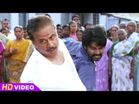Vanavarayan Vallavarayan Tamil Movie Scenes   Ma Ka Pa Anand fights with Jayaprakash   Kreshna