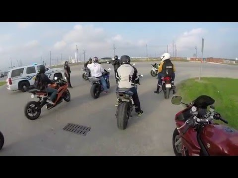 Houston Texas Motorcycle Group Ride - Yamaha Fz-07 Top Speed