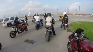 Houston Texas Motorcycle Group Ride - Yamaha Fz-07 Top Speed