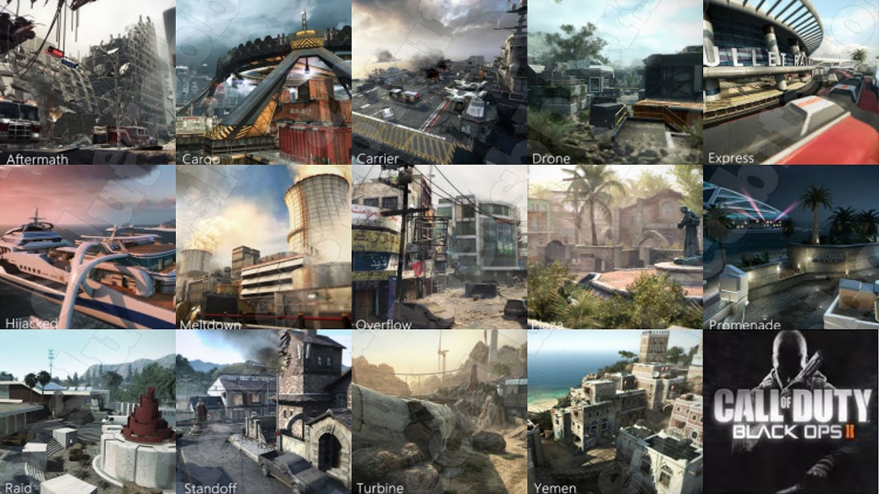 Black Ops 2 Map List and Loading Screens YouTube