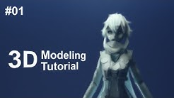 [Part 1/ 40] Anime Character 3D Modeling Tutorial II - Reference and Basemesh