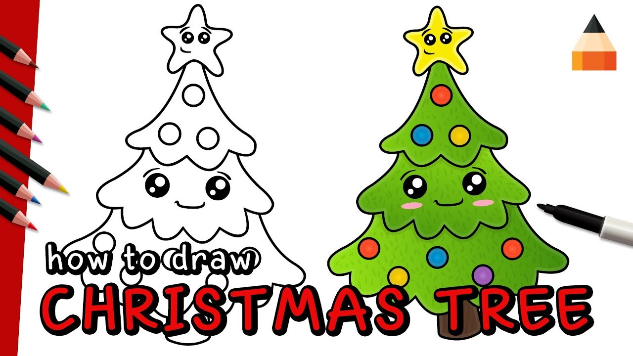 How To Draw Christmas Tree Drawing Christmas Tree Youtube