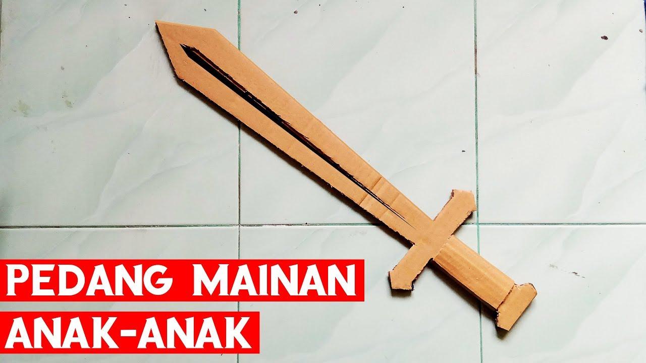 Cara Membuat Pedang Mainan Anak Anak Dari Kardus Bekas ...
