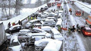 #14 Очень страшные Аварии ЗИМА Январь 2016 - ДТП Car Crash Compilation winter HD