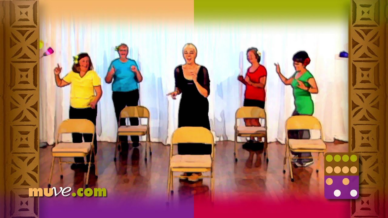 Senior Fitness Exercises Behind a Chair - Easy Dance Workout for Older Adults - YouTube