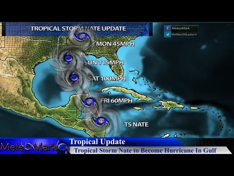 Tropical Storm Nate to become Hurricane, Target New Orleans Area , Oct 5, 2017