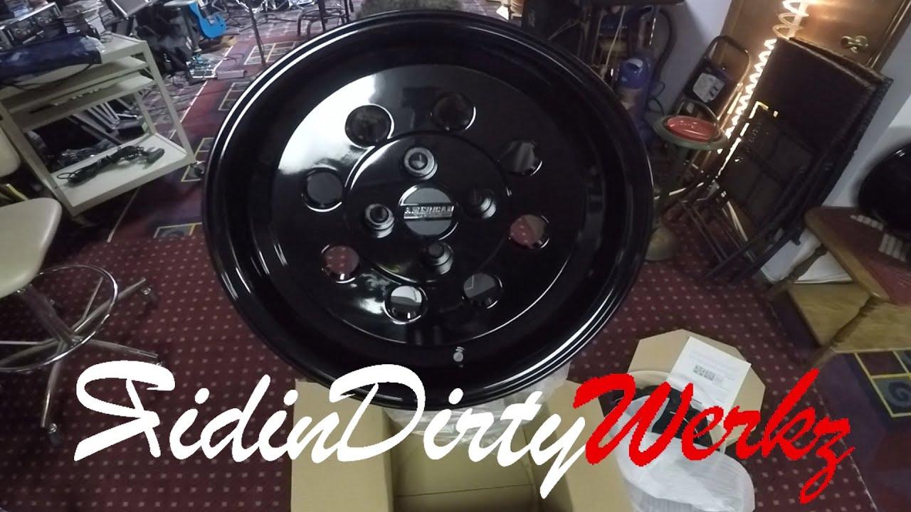 Fox Body Wheels >> American Muscle Classic Drag Wheel Unboxing   Black 15x10 Foxbody Mustang Drag Rims - YouTube