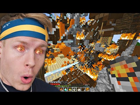 i accidentally set our Minecraft World on FIRE...