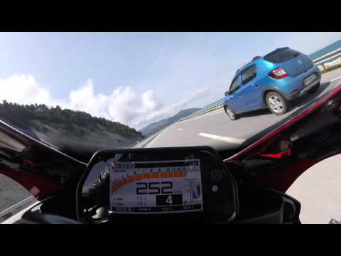 Yamaha YZF-R1 Top Speed in a Tunnel 299km/h Onboard rn32