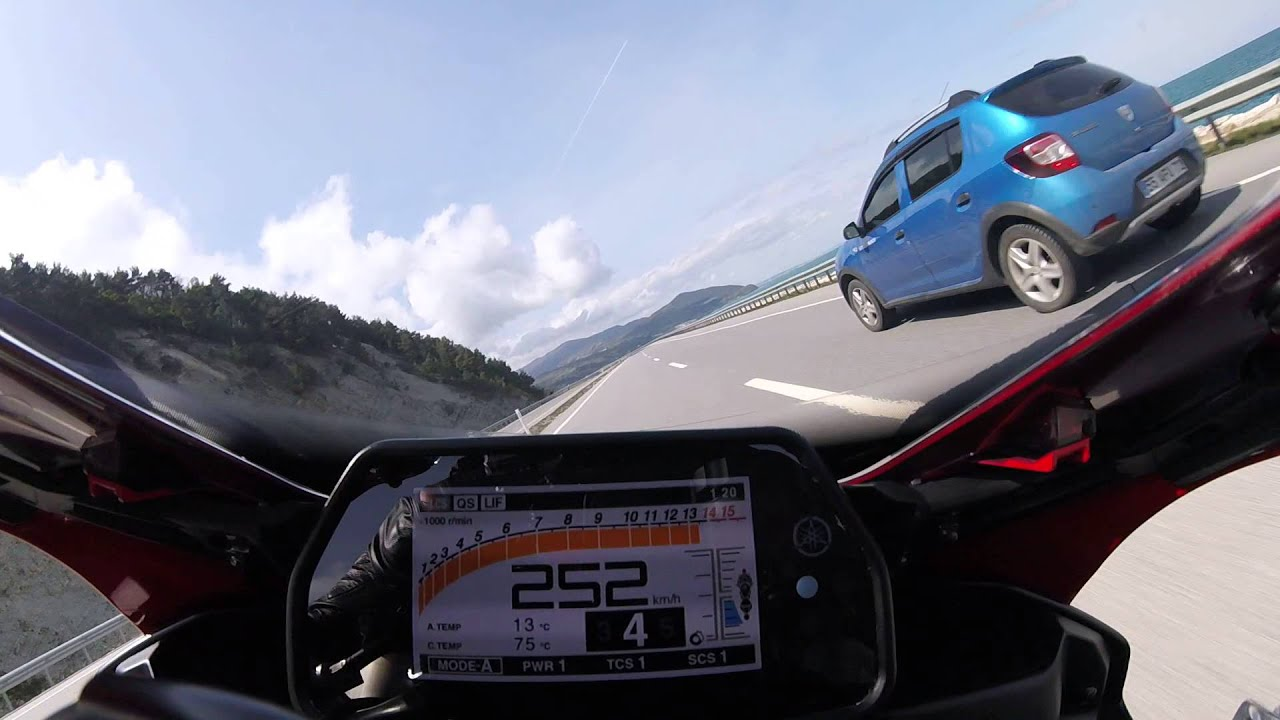 Yamaha YZF-R1 Top Speed in a Tunnel 299km/h Onboard rn32 - YouTube