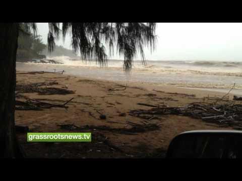 Flooding on the Island of Kauai, HI USA