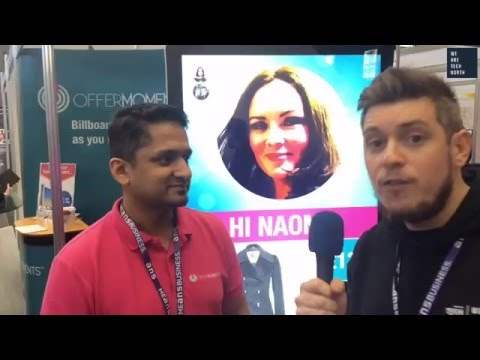 Abdul Alim, co-founder of OfferMoments, introduces the world's first social billboard.