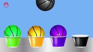 Learn Colors with Basketball Balls. Preschool Color Learning Videos for Toddlers